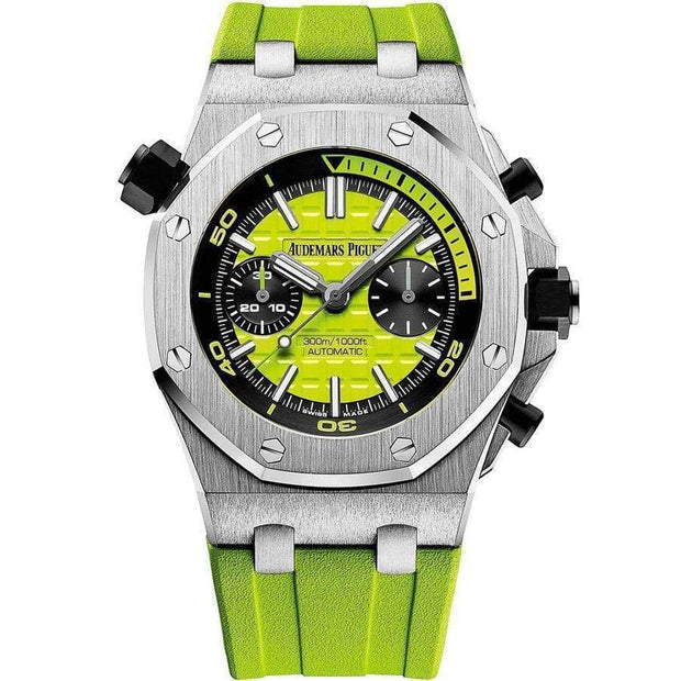 Audemars Piguet Royal Oak Offshore Diver Chronograph 42mm 26703ST Green Dial - First Class Timepieces