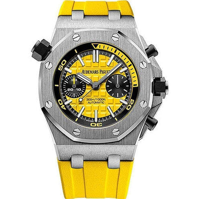 Audemars Piguet Royal Oak Offshore Diver Chronograph 42mm 26703ST Yellow dial - First Class Timepieces