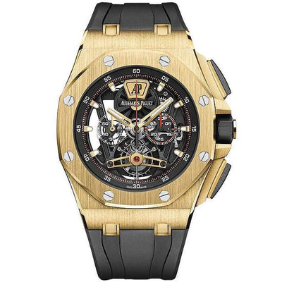 Audemars Piguet Royal Oak Offshore Tourbillon Chronograph 44mm 26407BA Overworked - First Class Timepieces