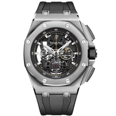 Audemars Piguet Royal Oak Offshore Tourbillon Chronograph 44mm 26407TI Overworked - First Class Timepieces