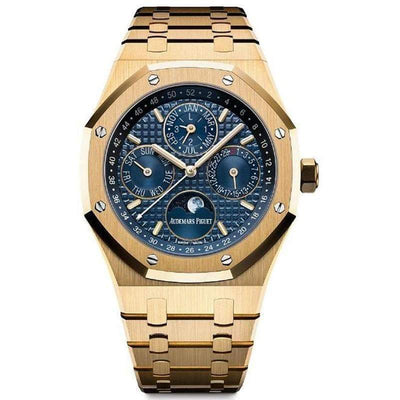 Audemars Piguet Royal Oak Perpetual Calendar 41mm 26574BA Blue Dial - First Class Timepieces