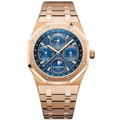 Audemars Piguet Royal Oak Perpetual Calendar 41mm 26574OR Blue Dial - First Class Timepieces