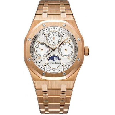Audemars Piguet Royal Oak Perpetual Calendar 41mm 26574OR Silver Dial-First Class Timepieces