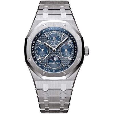 Audemars Piguet Royal Oak Perpetual Calendar 41mm 26574ST Blue Dial - First Class Timepieces