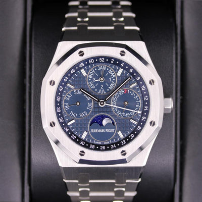 Audemars Piguet Royal Oak Perpetual Calendar 41mm 26574ST Blue Dial Pre-Owned-First Class Timepieces