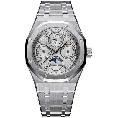 Audemars Piguet Royal Oak Perpetual Calendar 41mm 26574ST Silver Dial - First Class Timepieces