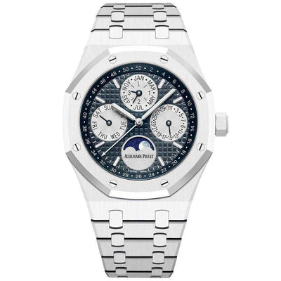 Audemars Piguet Royal Oak Perpetual Calendar 41mm 26579CB Blue Dial-First Class Timepieces