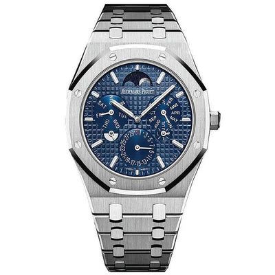 Audemars Piguet Royal Oak Perpetual Calendar Ultra-Thin 41mm 26586IP Blue Dial-First Class Timepieces