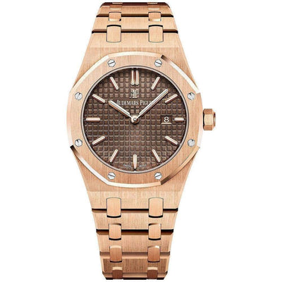 Audemars Piguet Royal Oak Quartz 33mm 67650OR Brown Dial - First Class Timepieces