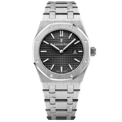 Audemars Piguet Royal Oak Quartz 33mm 67650ST Black Dial-First Class Timepieces