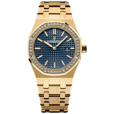 Audemars Piguet Royal Oak Quartz 33mm 67651BA Blue Dial - First Class Timepieces