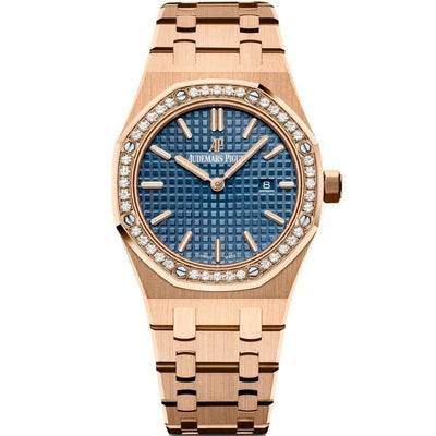 Audemars Piguet Royal Oak Quartz 33mm 67651OR Blue Dial - First Class Timepieces