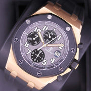 "Audemars Piguet ""Rubber Clad"" Royal Oak Offshore Chronograph 42mm 25940OK Grey Dial Pre-Owned-First Class Timepieces"