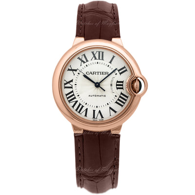 Cartier Ballon Bleu De Cartier 33mm W6920097 Silvered Opaline Flinqué Dial