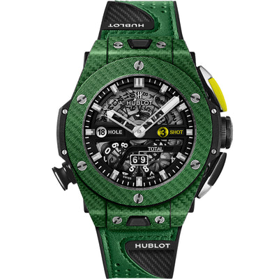 Hublot Limited Edition Big Bang Unico Golf Green 45mm 416.YG.5220.VR Overworked Dial