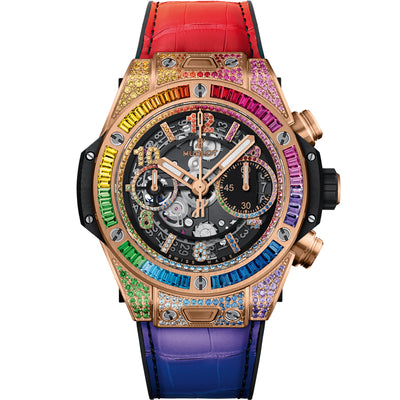 Hublot Big Bang Unico Rainbow 42mm 441.OX.9910.LR.0999 Overworked Dial