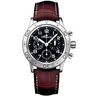 Breguet Type XX Chronograph 39.5mm 3800ST/92/9W6 Black Dial-First Class Timepieces