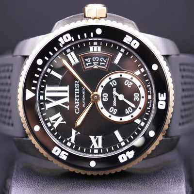 Cartier Calibre De Cartier Diver 42mm W2CA0004 Black Dial Pre-Owned-First Class Timepieces