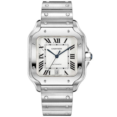Cartier Santos 39mm WSSA0009 Silver Dial-First Class Timepieces