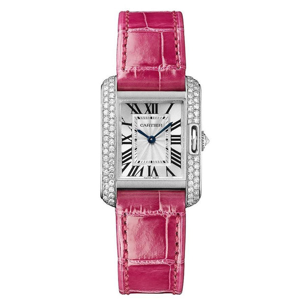 Cartier Tank Anglaise 30mm WT100015 Silver Dial-First Class Timepieces