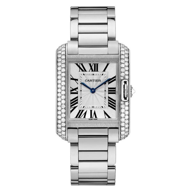 Cartier Tank Anglaise 34mm WT100028 Silver Dial-First Class Timepieces
