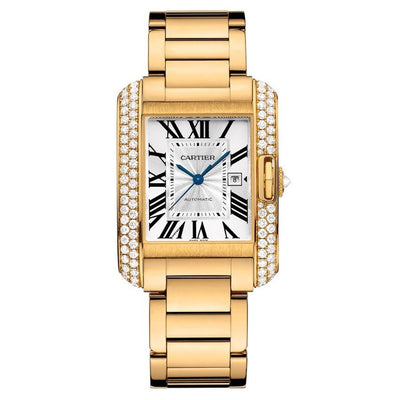 Cartier Tank Anglaise 39mm WT100006 Silver Dial-First Class Timepieces