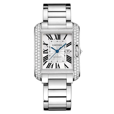Cartier Tank Anglaise 39mm WT100009 Silver Dial-First Class Timepieces