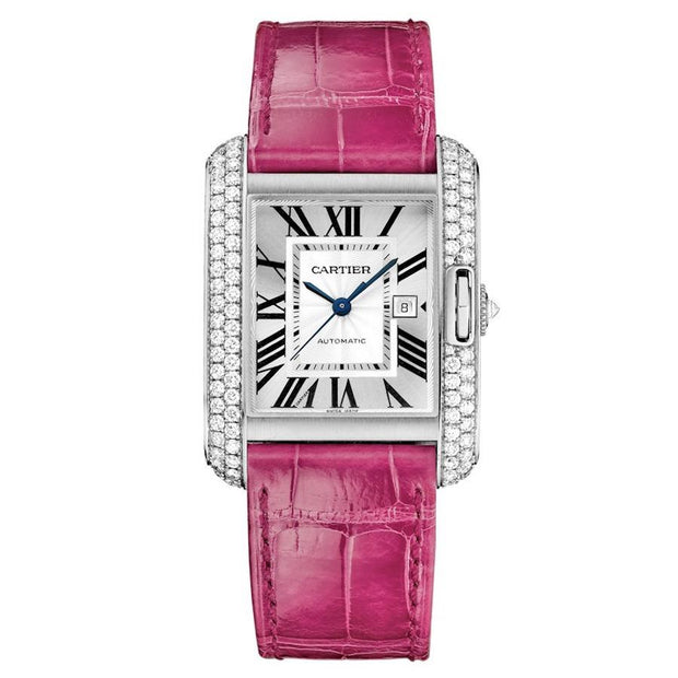 Cartier Tank Anglaise 39mm WT100018 Silver Dial-First Class Timepieces