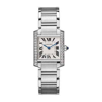 Cartier Tank Fracaise 30mm W4TA0009 Silver Dial-First Class Timepieces