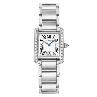 Cartier Tank Francaise 25mm WE1002S3 Silver Dial-First Class Timepieces
