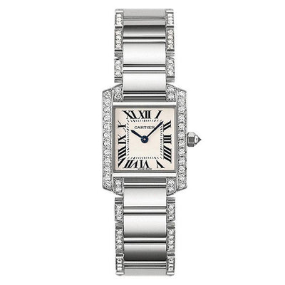 Cartier Tank Francaise 25mm WE1002SF Silver Dial-First Class Timepieces