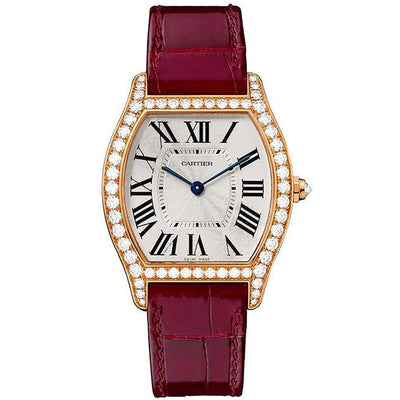 Cartier Tortue 39mm WA501008 Silver Dial-First Class Timepieces