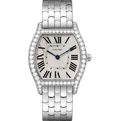 Cartier Tortue 39mm WA501013 Silver Dial-First Class Timepieces
