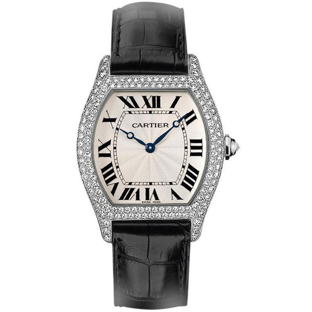 Cartier Tortue 43mm WA503851 Silver Dial-First Class Timepieces