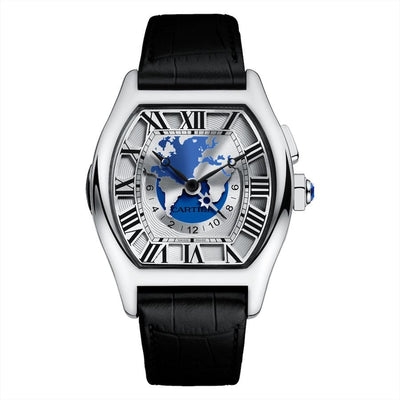 Cartier Tortue 51mm W1580050 Blue/Silver dial-First Class Timepieces