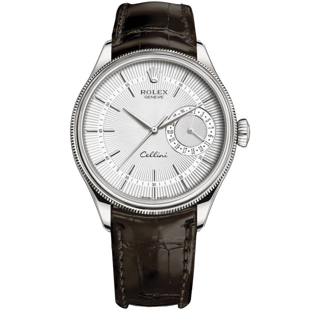 Rolex Cellini Date 39mm 50519 White Dial