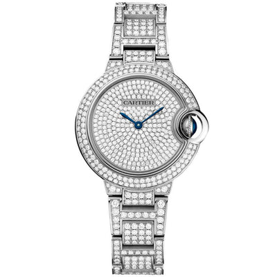 Cartier Ballon Bleu De Cartier 33mm HPI00562 Diamond Paved Dial