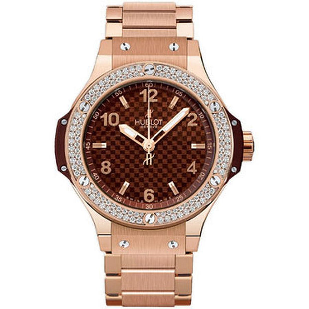 Hublot Big Bang 38mm 361.PC.3380.PC.1104 Chocolate Carbon Dial-First Class Timepieces