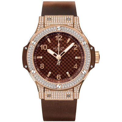 Hublot Big Bang 38mm 361.PC.3380.RC.1704 Chocolate Carbon Dial-First Class Timepieces