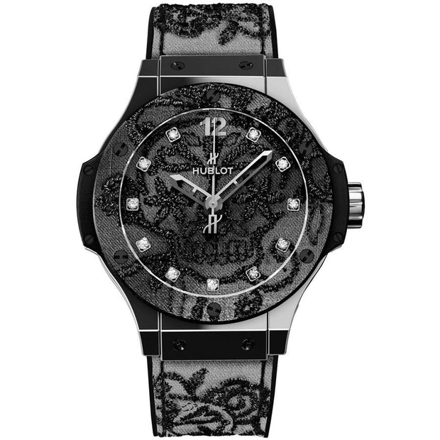 Hublot Big Bang limited Edition 41mm 343.SS.6570.NR.BSK16 Black Diamond Dial-First Class Timepieces