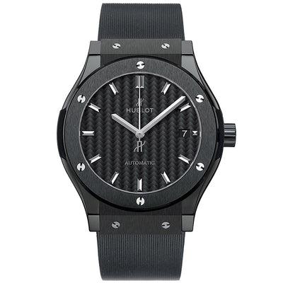 Hublot Classic Fusion 42mm 542.CM.1771.RX Black Carbon Fiber Dial-First Class Timepieces