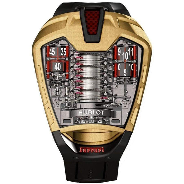 Hublot MP-05 LaFerrari Gold Limited Edition Tourbillon 45mm Overworked Dial-First Class Timepieces