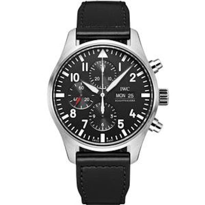 IWC Pilot Chronograph 43mm IWC377709 Black Dial-First Class Timepieces