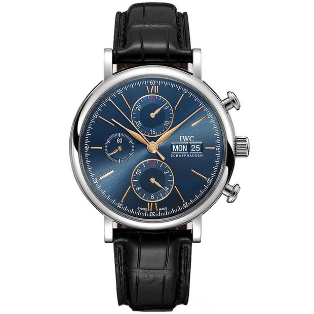 IWC Portofino Chronograph 42mm IW391036 Blue Dial-First Class Timepieces
