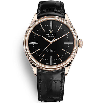 Rolex Cellini Time 39mm 50505 Black Dial