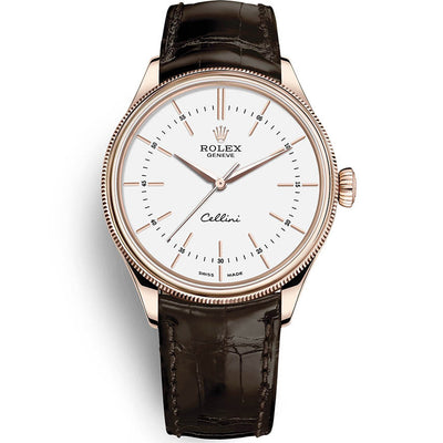 Rolex Cellini Time 39mm 50505 White Dial