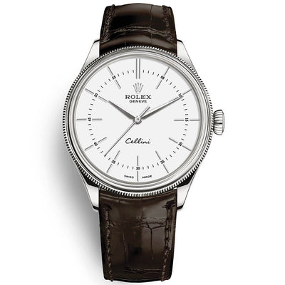 Rolex Cellini Time 39mm 50509 White Dial