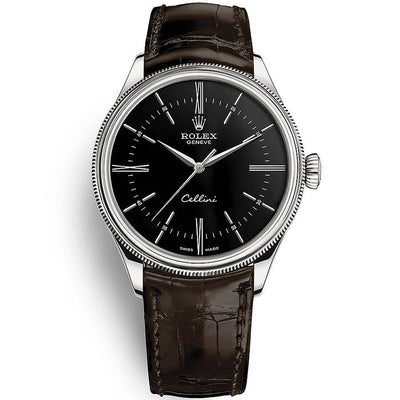 Rolex Cellini Time 39mm 50509 Black Dial