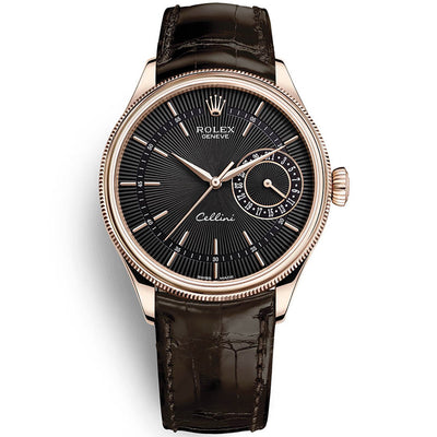 Rolex Cellini Date 39mm 50515 Black Dial
