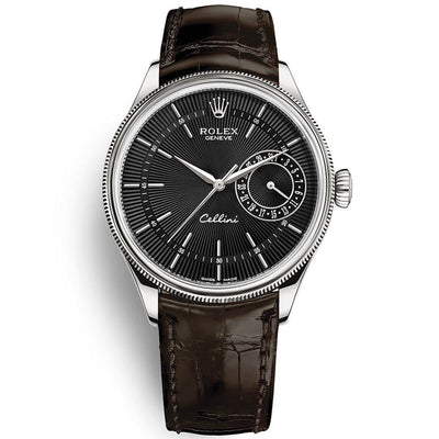 Rolex Cellini Date 39mm 50519 Black Dial